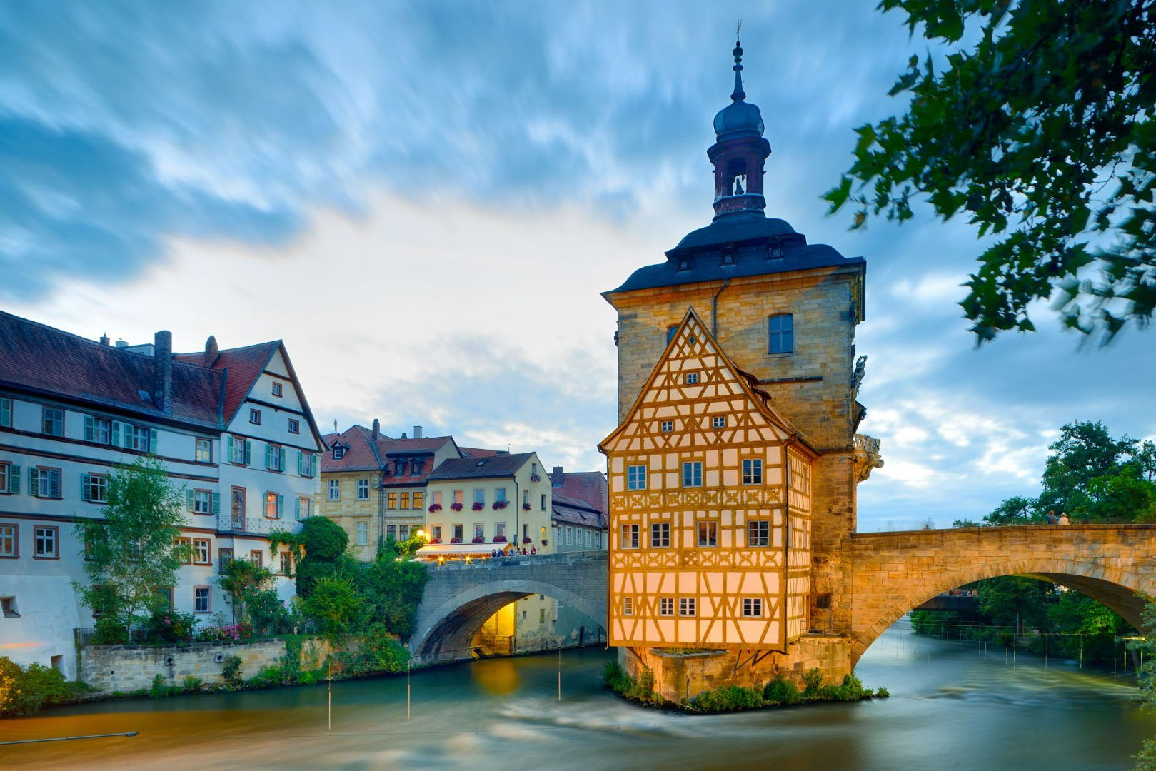 Bamberg: UNESCO World Heritage, The old Town Hall with bridge_Leitmotif German Summe Cities