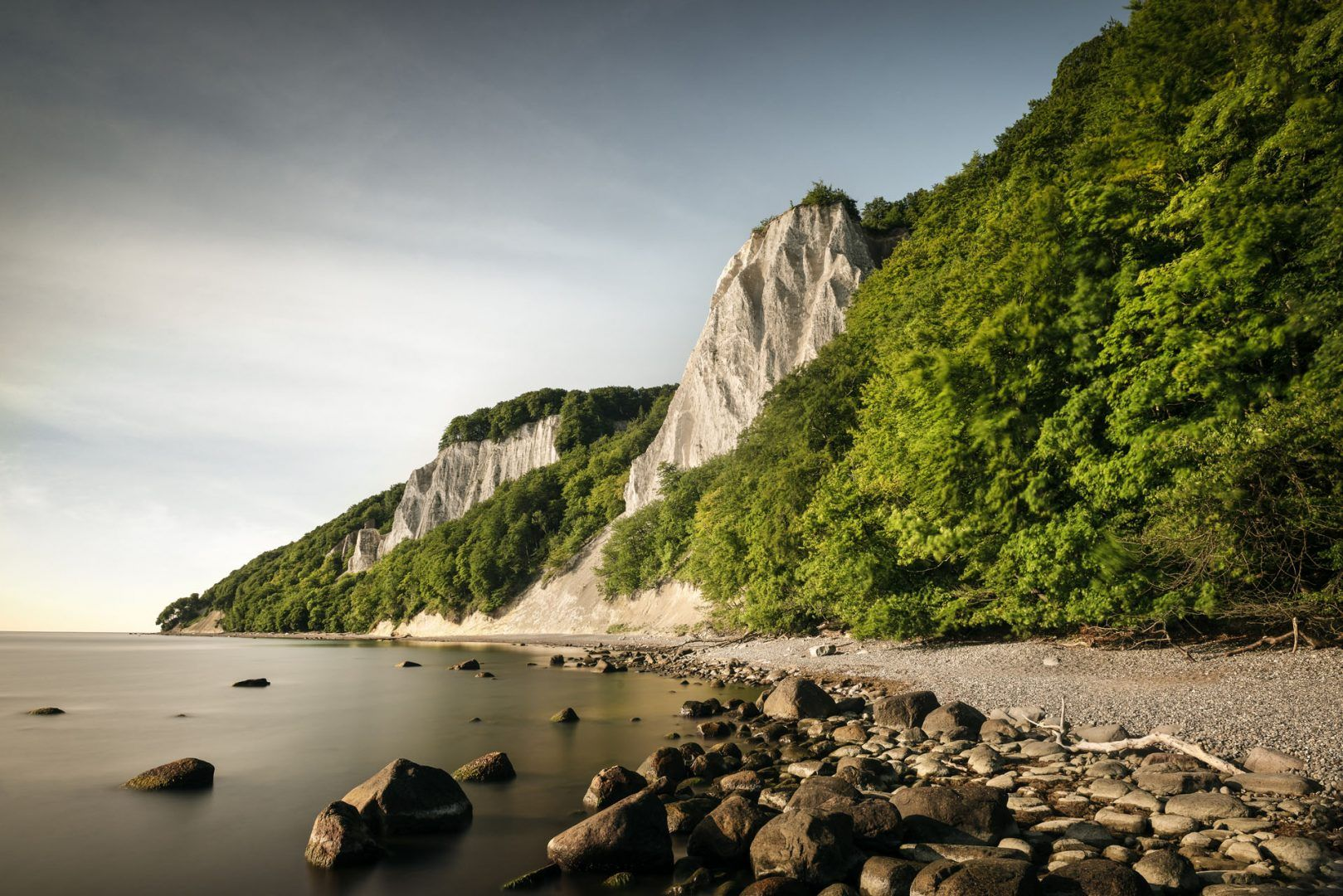 Chalk cliffs on the island of Rügen in Jasmund National Park