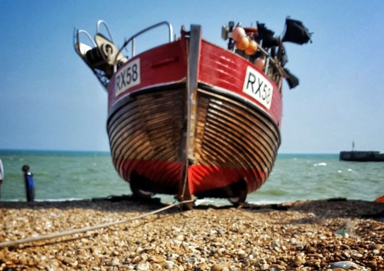 Boats on Sussex working beach