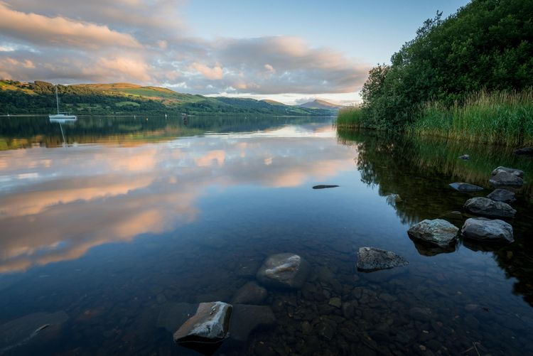 A tranquil sunset on Bala Lake (Llyn Tegid)