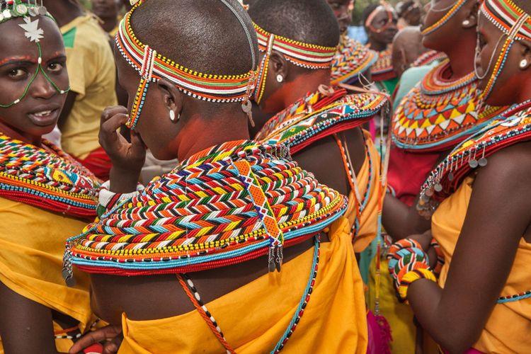 Samburu girls in Maralal