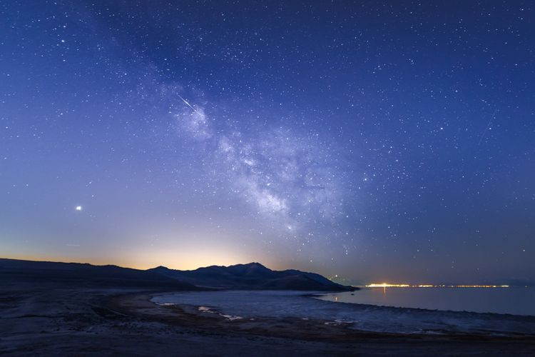 Antelope Island starry night, Utah