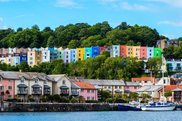 Colourful houses in Bristol