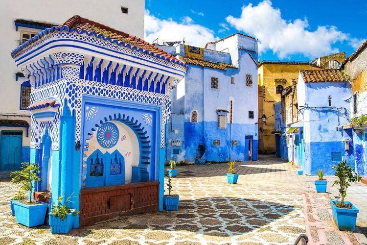 Chefchaouen city square, Morocco