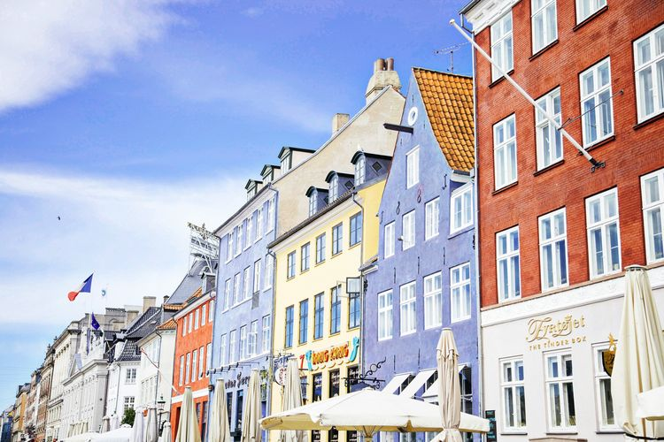 Copenhagen houses along canal