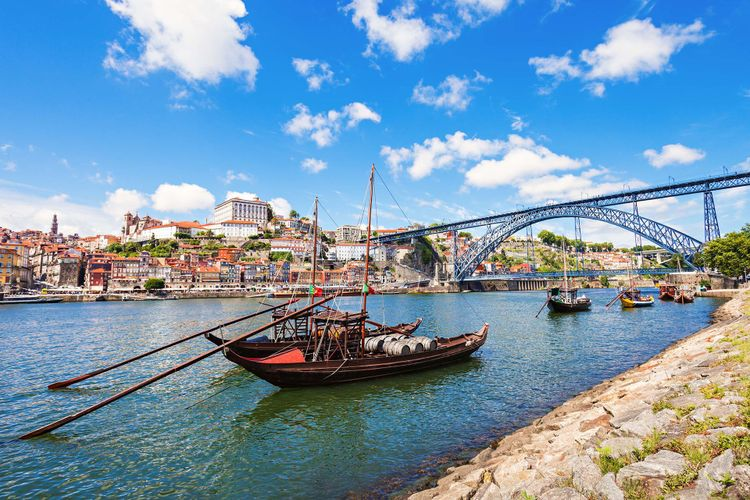 Traditional boats on the Douro River