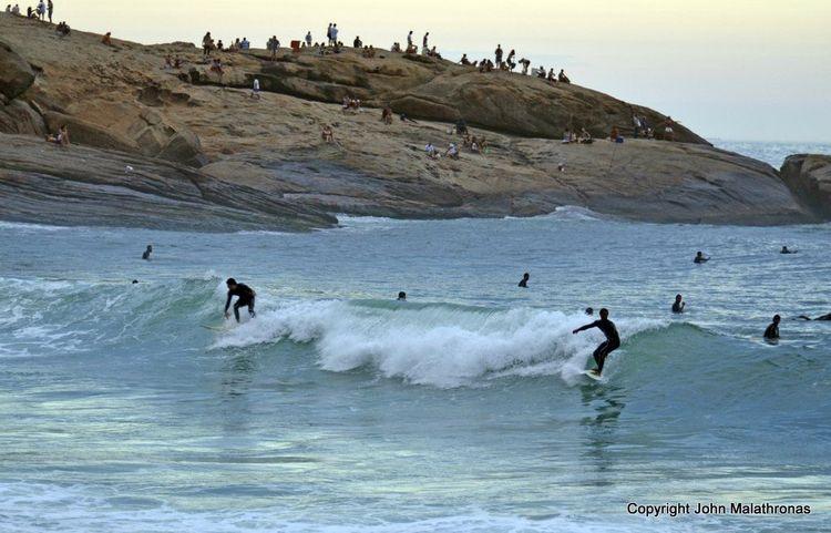 Surfers in Rio