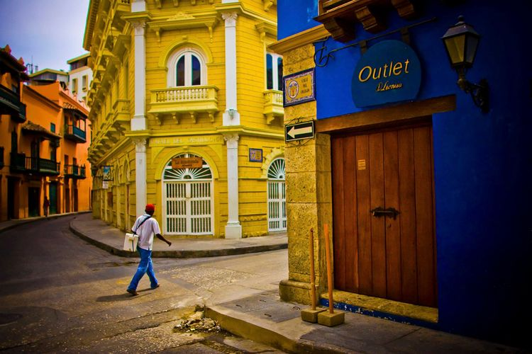 Early Morning in the Centro Historico.  Cartagena, Colombia