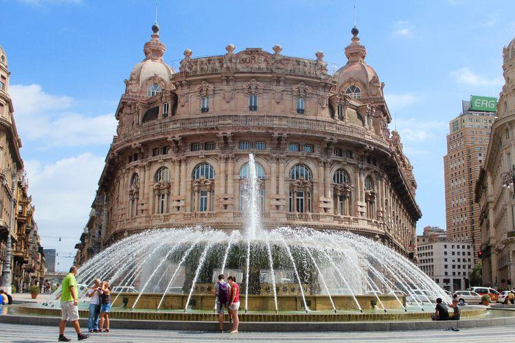 Genoa, fountain