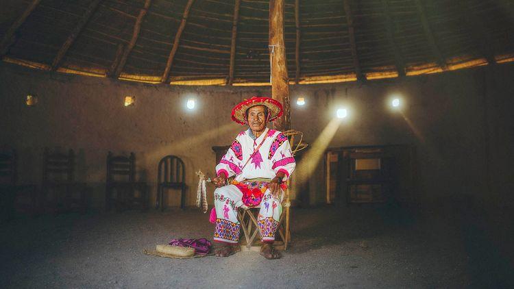 Huichol man, Riviera Nayarit, Mexico