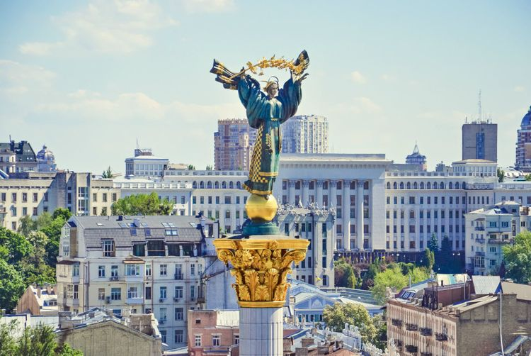 Independence Monument in Kiev, Ukraine