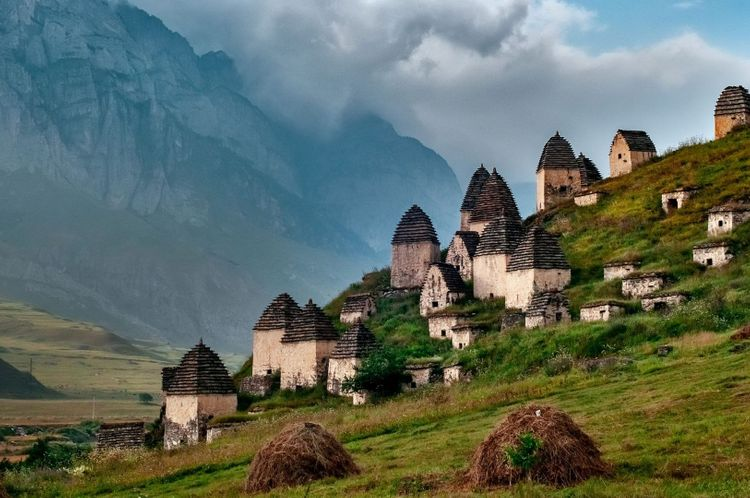 Medieval monument in Dargavs-North-Ossetia-Russia-shutterstock_1265355499