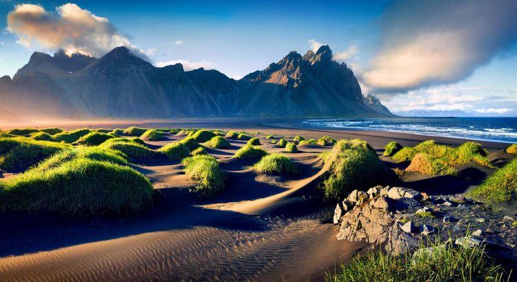 Black-sand dunes in Iceland