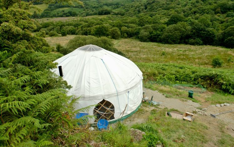 Yurt at Tipi Valley, Cwmdu, near Talley, Carmarthenshire, West Wales